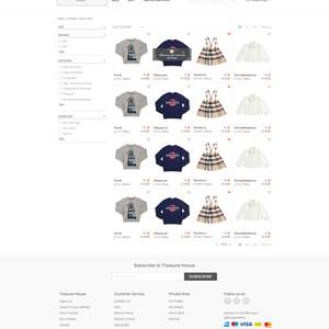 TrasureHouse e-commerce website